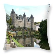 Chateau De Josselin Throw Pillow