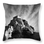 Chateau Des Baux Throw Pillow