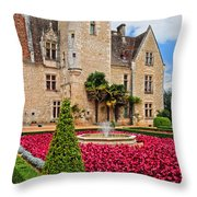Chateau Des Milandes Throw Pillow