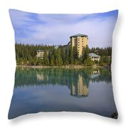 Chateau Lake Louise Throw Pillow