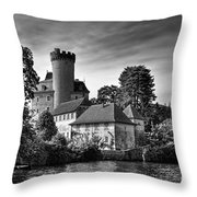 Chateau On The Lake At Annecy Throw Pillow