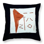 Chatter 2 Throw Pillow