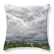Chautauqua Lake Clouds 8625 Throw Pillow