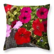 Chawton Petunias Throw Pillow