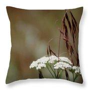 Cheatgrass And Common Yarrow Throw Pillow