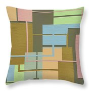 Check Throw Pillow by Ely Arsha