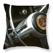 Checker Taxi Cab Steering Wheel Throw Pillow