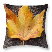 Cheerio Leaf Throw Pillow