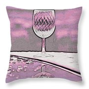 Cheers On Icy Snow Throw Pillow by Phyllis Kaltenbach