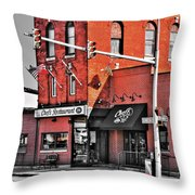Chefs Restaurant  Throw Pillow