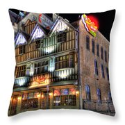 Cheli's Chili Bar Detroit Throw Pillow
