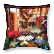 Chelsea Flower Shop Throw Pillow