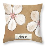Cherry Blossom Hope Throw Pillow