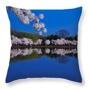 Cherry Blossoms And The Tidal Basin Throw Pillow
