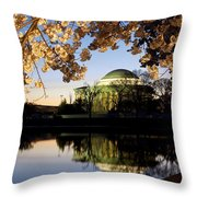 Cherry Blossoms At Dawn Throw Pillow