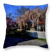 Cherry Blossoms Cbwc Throw Pillow