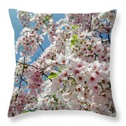 Cherry Blossoms Of The Sky Throw Pillow