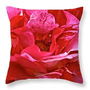 Cherry Chip Rose Petals Throw Pillow