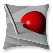 Cherry Float Throw Pillow