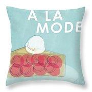 Cherry Pie A La Mode Throw Pillow