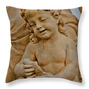 Cherub At Biltmore Estate Throw Pillow