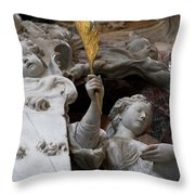 Cherubs And Angels With Gold Leaf Throw Pillow