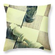 Chess Throw Pillow by Joana Kruse
