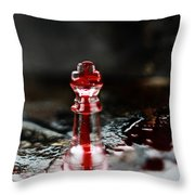 Chess Piece In Blood Throw Pillow