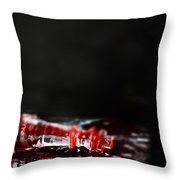 Chess Piece Lying In Blood Throw Pillow by Stephanie Frey