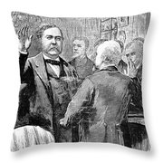 Chester Alan Arthur Throw Pillow