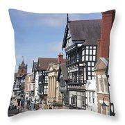 Chester City Centre Throw Pillow