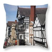 Chester City Skyline Throw Pillow