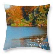 Chester In Autumn Throw Pillow