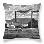 Chester Rolling Mill Throw Pillow