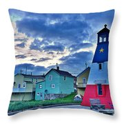 Cheticamp In Cape Breton Nova Scotia Throw Pillow
