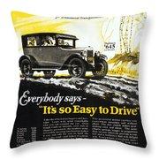 Chevrolet Ad, 1926 Throw Pillow