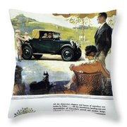 Chevrolet Ad, 1927 Throw Pillow