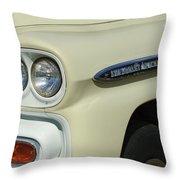 Chevrolet Apache 31 Fleetline Headlight Emblem Throw Pillow