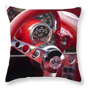Chevrolet Corvette Steering Wheel Throw Pillow