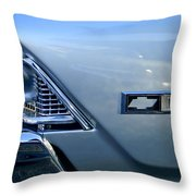 Chevrolet Headlights And Emblem Throw Pillow