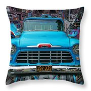 Chevrolet Pick Up Abstract Throw Pillow