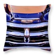 Chevrolet Pickup Truck Grille Emblem Throw Pillow
