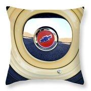 Chevrolet Wheel Emblem Throw Pillow