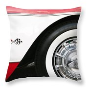 Chevrolette Corvette Sting Ray Convertible Throw Pillow