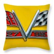 Chevy 427 Turbo-jet Throw Pillow