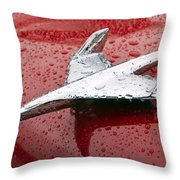 Chevy Bel Air Nomad Hood Ornament Throw Pillow