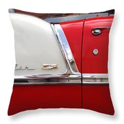 Chevy Belair Classic Trim Throw Pillow by Mike McGlothlen