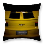 Chevy Camaro Covertible Rs Tail Throw Pillow