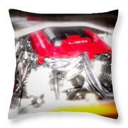 Chevy Camaro Engine Throw Pillow