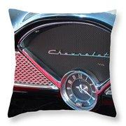 Chevy Dash Clock Throw Pillow